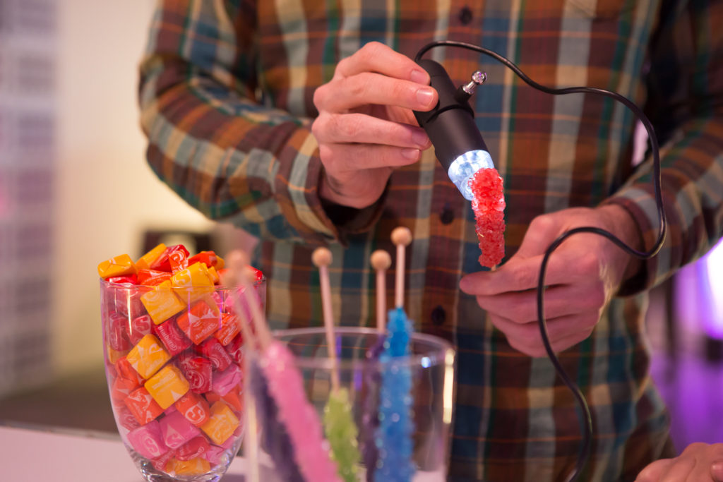 At Confection Connection, visitors explored the microarchitecture of different sugary sweets.